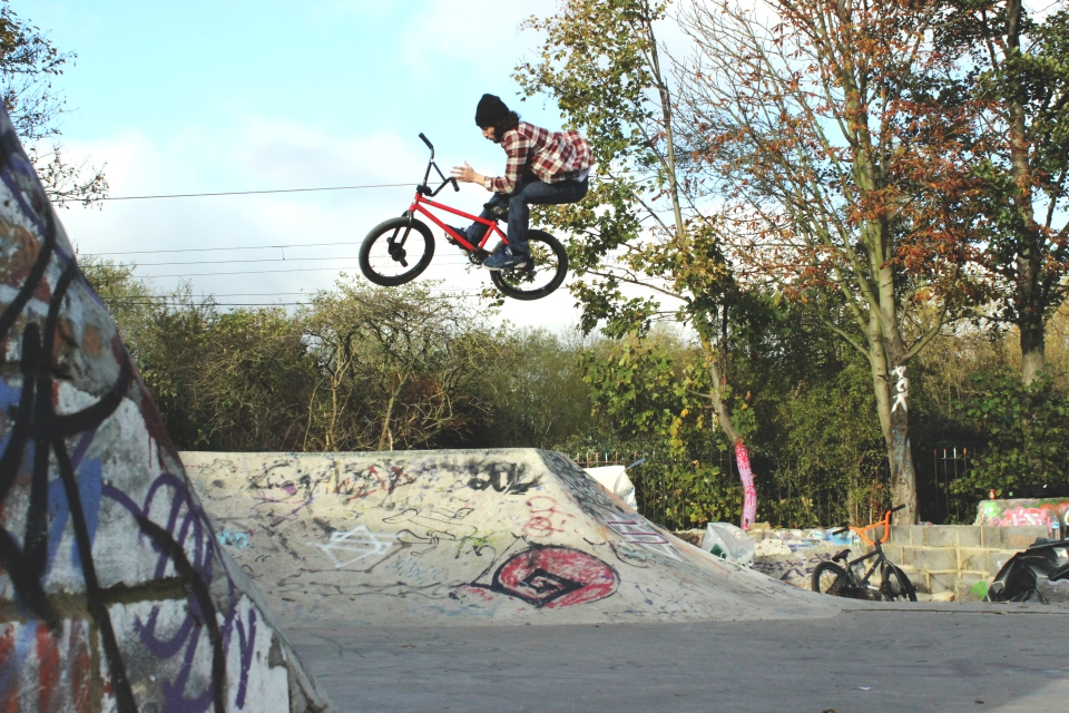 Max with a massive barspin on a tiny hip