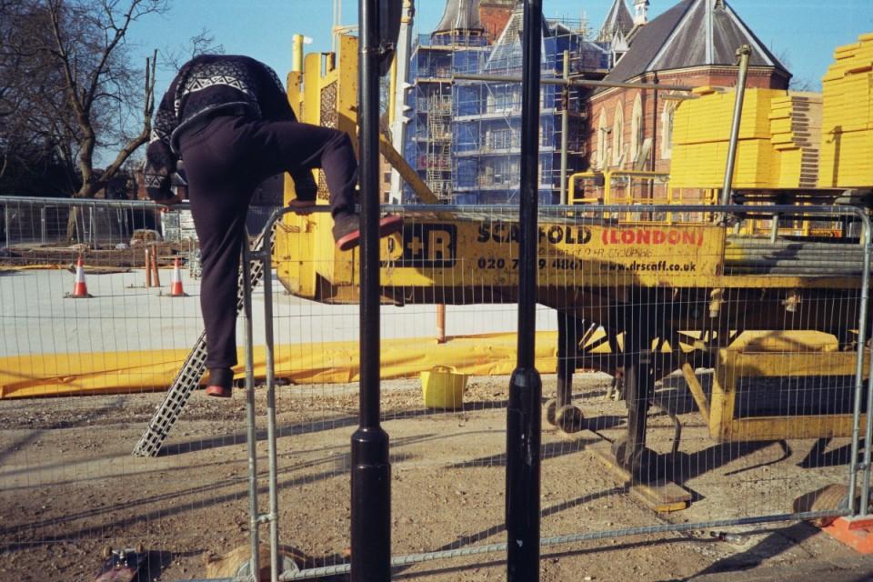 Jack ss climbing fence